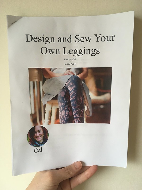 Self-Drafted Leggings, Thanks to Cal Patch