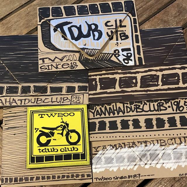 TDUB CLUB hand drawn envelopes - TW200