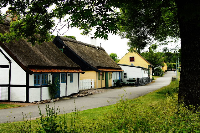 Street in Listed, a village on Bornholm