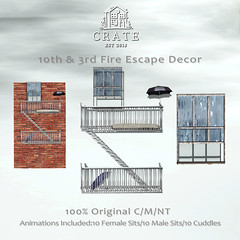 crate's 10th & 3rd Fire Escape Decor Set