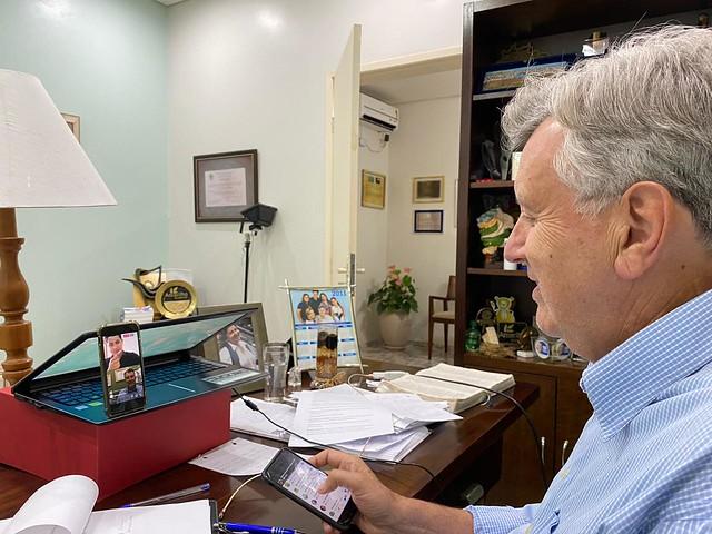 27/03/2020 Senador na live com o vereador David Santos (São Leopoldo)