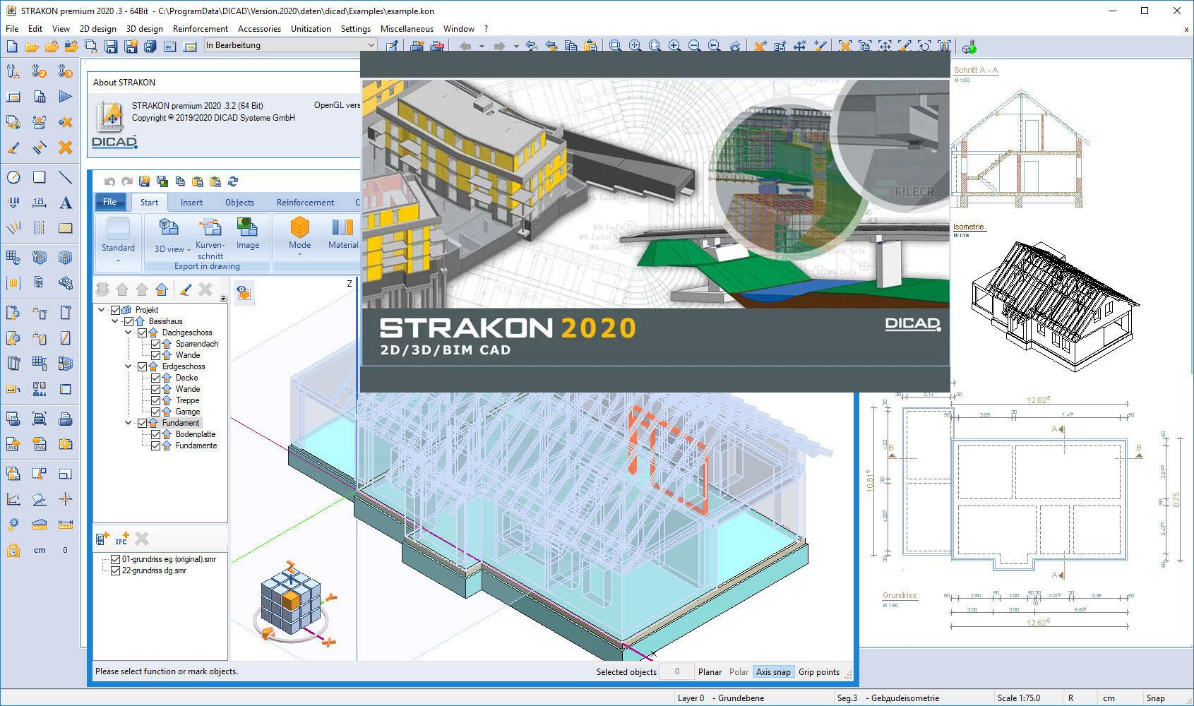 Working with DICAD STRAKON Premium 2020.3.2 full license