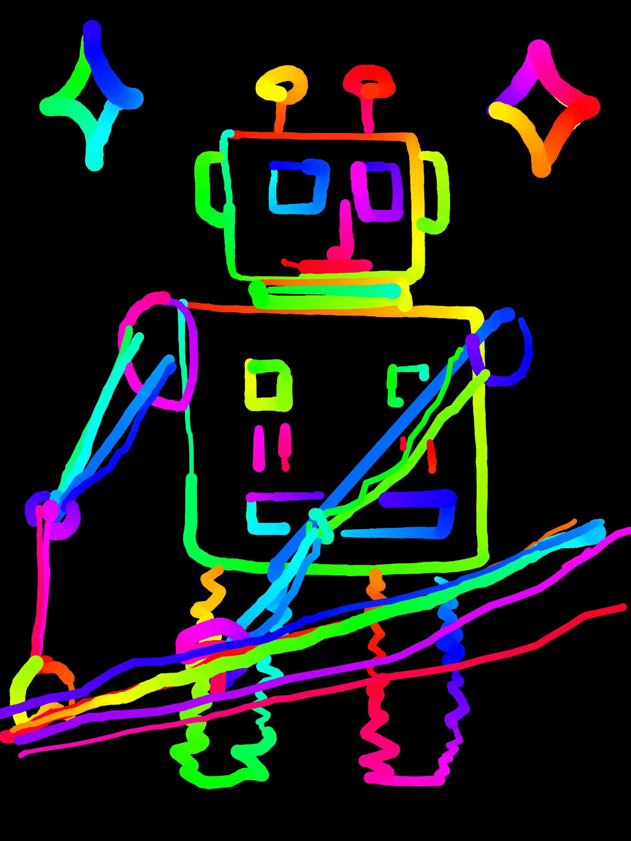 iPad pro Rainbowy robot