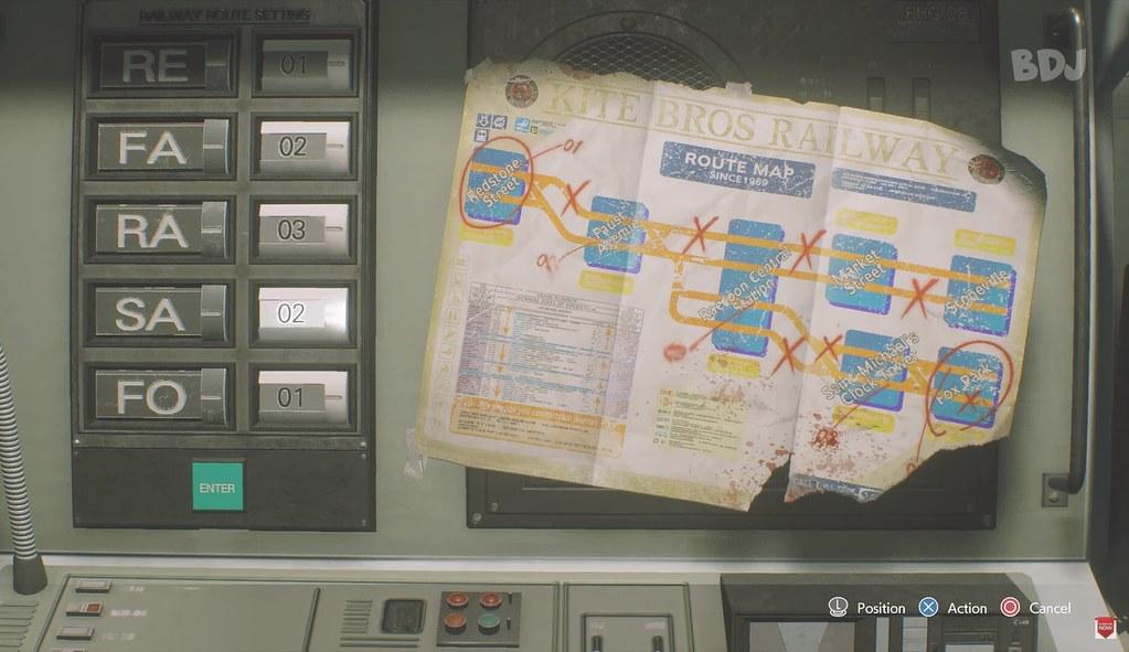 Resident Evil 3 Remake - quebra-cabeça do metrô