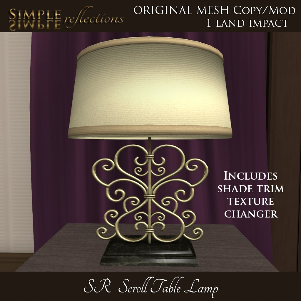 SR Scroll Table Lamp