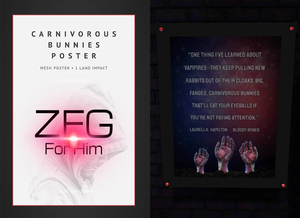 ZFG FOR HIM CARNIVOROUS BUNNIES POSTER