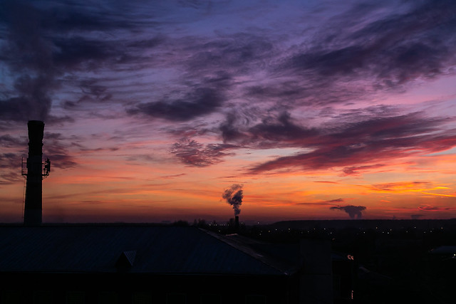 Industrial sunset in Savvino