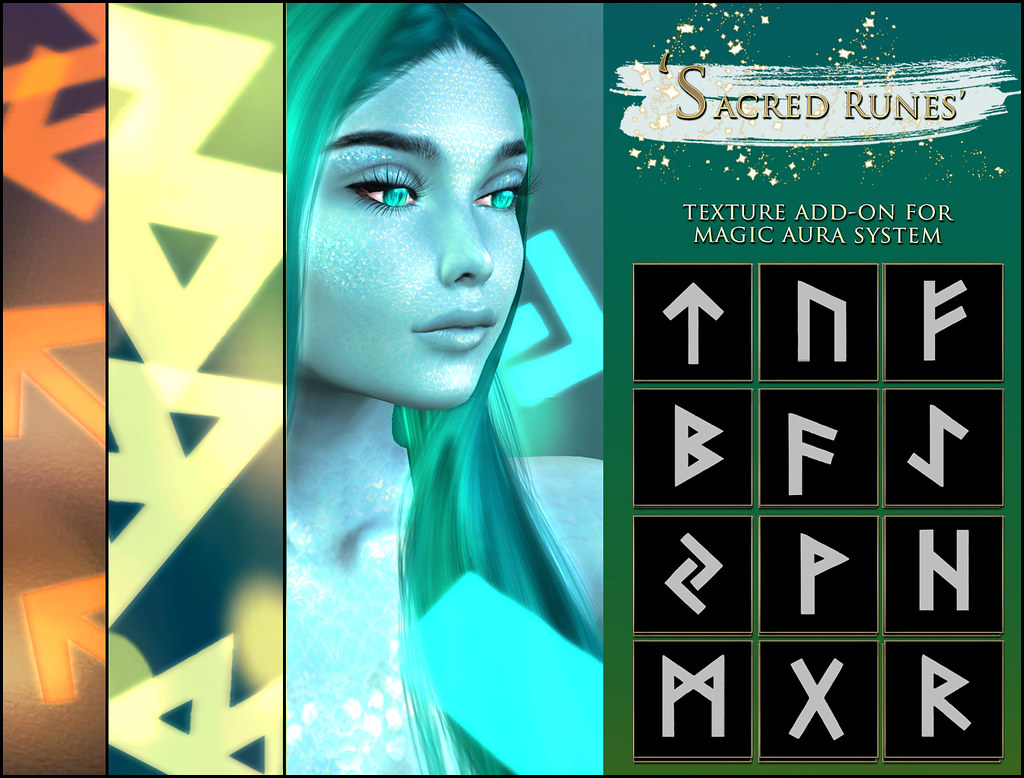 -Elemental' 'Sacred Runes' Texture Addon For Magical Aura