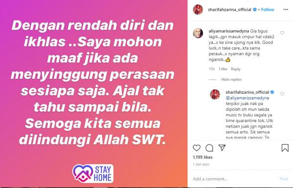 Gelar Netizen Kg.Com, Penyanyi Sharifah Zarina Dikecam