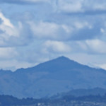 26. Märts 2020 - 10:57 - I made this photo of Mt Diablo from a hill in our San Francisco neighborhood. I decided to take photos for a few minutes because of the cloud filled skies. I shot this using my Canon Powershot SX50.