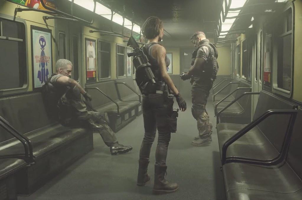 레지던트 이블 3 리메이크-지하철