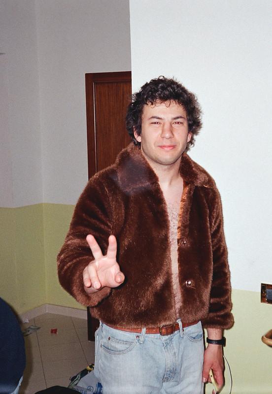 Cole in Jen's Jacket, looking very 70's