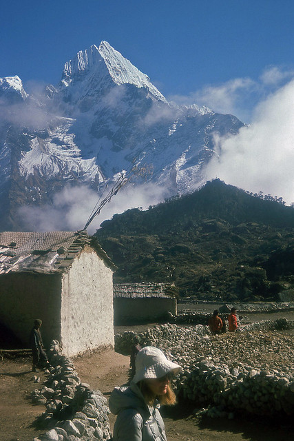 Road (trail) to Everest: Thamserku, Nepal 1977 (No.8 in a series)