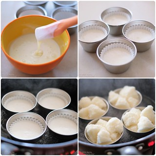 米粉の蒸しパン プロセス