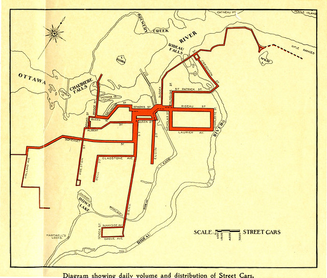 Ottawa - daily volume and distribution of street cars - 1915 - drawing24B