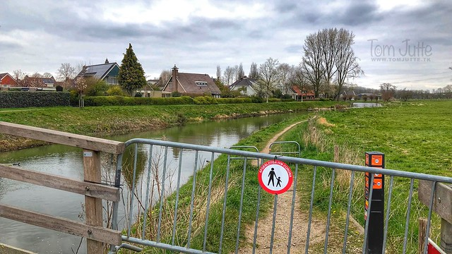 Prohibited access due to Corona, Odijk, Netherlands - 3353