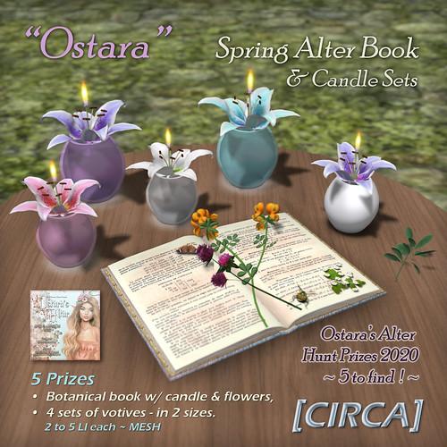 """@ Ostara's Alter Event   [CIRCA] - """"Ostara"""" Spring Alter Book & Candle Sets - Hunt Prizes"""