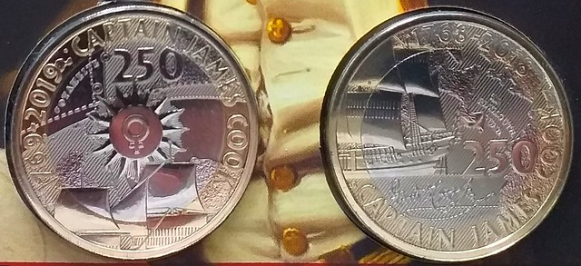 Captain James Cook 250th Anniversary £2 Coins 1 & 2 Of 3 By The Royal Mint