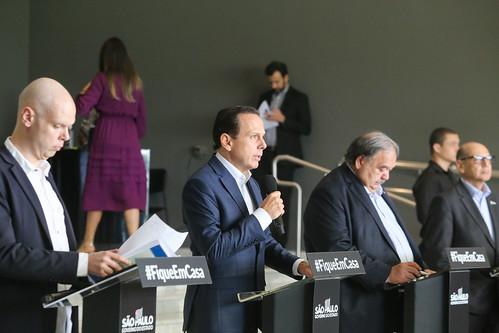 O Governador do Estado de São Paulo João Doria durante coletiva de imprensa sobre o Coronavírus. Dia: 03/04/2020 Local: São Paulo/SP Foto: Governo do Estado de São Paulo.