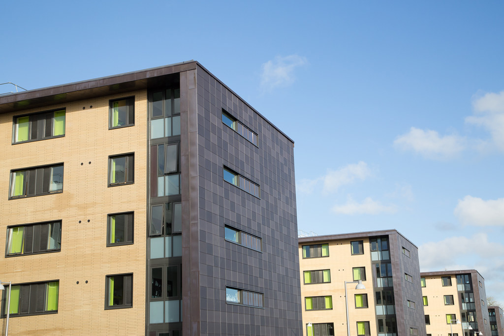 The Quads, a block of student accommodation buildings
