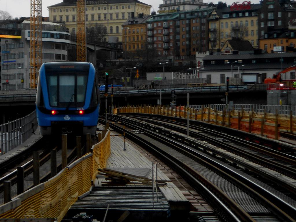 Метро Стокгольма. Мост Söderström.