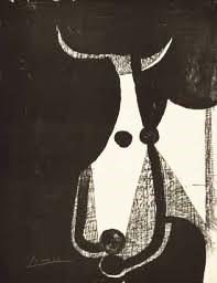 Picasso Stierkopf links gewendet
