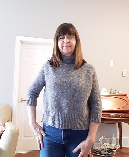 Another kit project knit by Jocelyne! This one is the Turtle Dove II knit with Garnstudio Drops Air. Kits available!