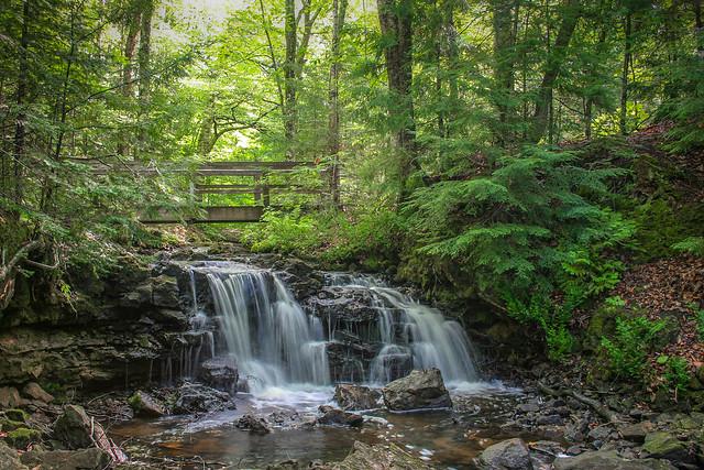 Footbridge Over the Waterfall
