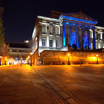 Preston's Harris Museum at night