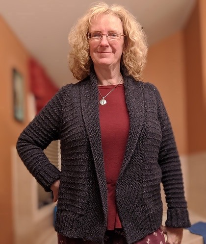 Linda started and finished Ginny by Andrea Mowry in 17 days!!! She knit it using Rowan Felted Tweed.
