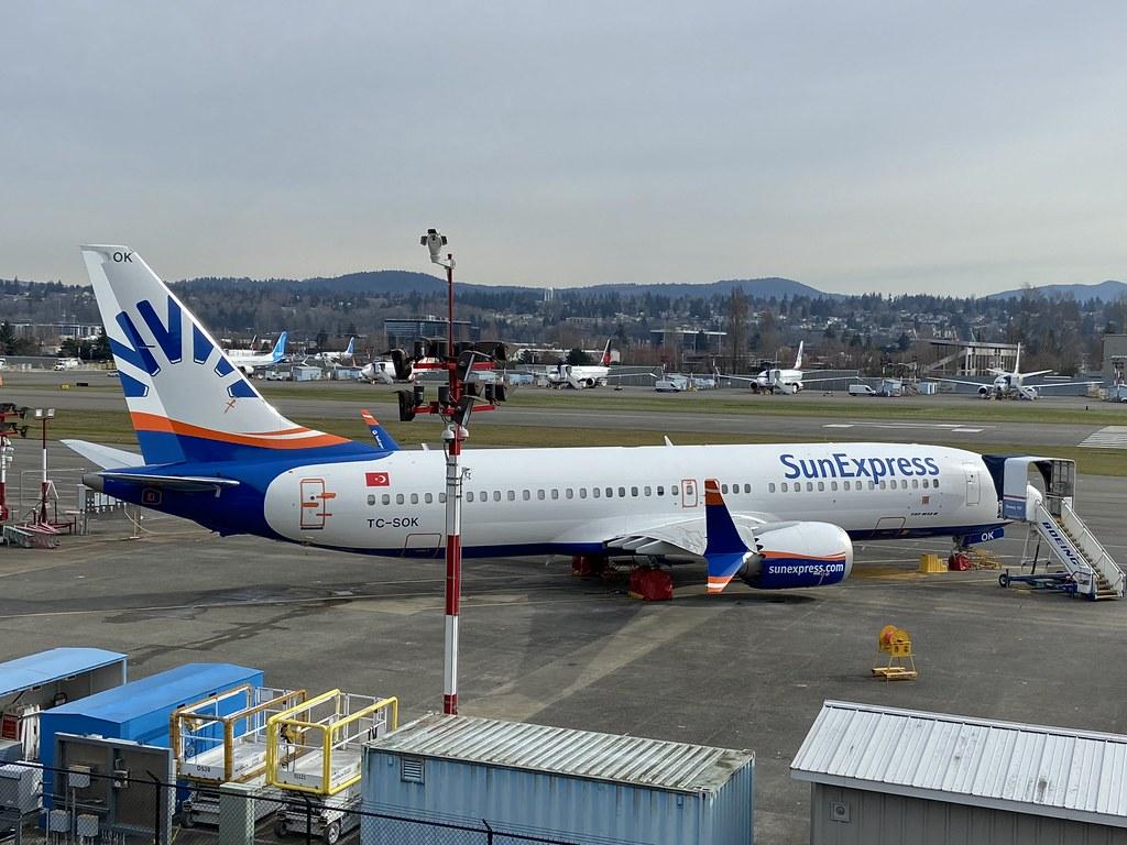 TC-SOK, Boeing 737 NG  8, SunExpress (61202), Renton/Clayton Scott Field 17th March 2020