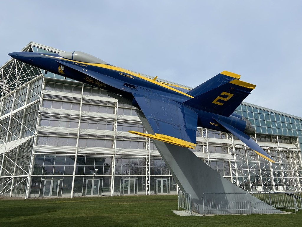 163106/2, McDonnell Douglas F/A-18A Hornet, Museum of Flight, United States (495/A409), King County/Boeing Field 17th March 2020