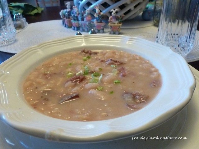 Ham and Bean Soup at FromMyCarolinaHome.com