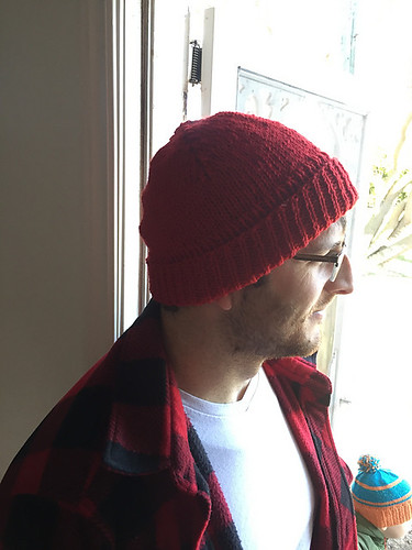 Christina finally knit a hat that fits her husband! The Montane Hat by Whitney Hayward