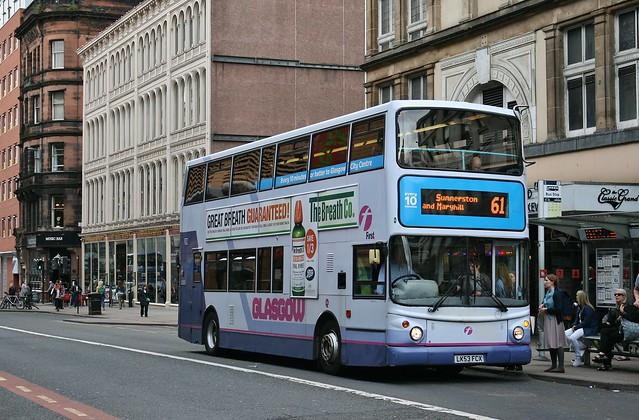 First Glasgow LK53 FCX (33351)   Route 61   Jamaica Street, City Centre