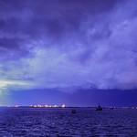 6. Märts 2020 - 15:44 - Lightning, seen from Stokes Hill Wharf, Darwin, Northern Territory, Australia