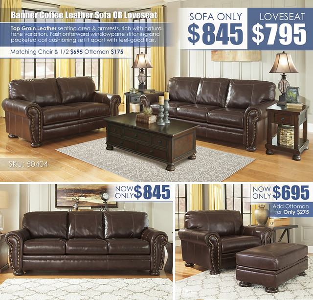 Banner Coffee Leather Sofa OR Loveseat_50404-38-35-T697