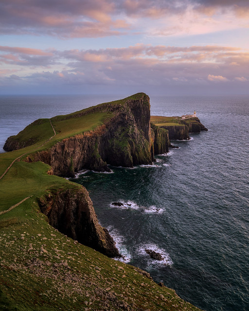 Sunset at Neist Point lighthouse