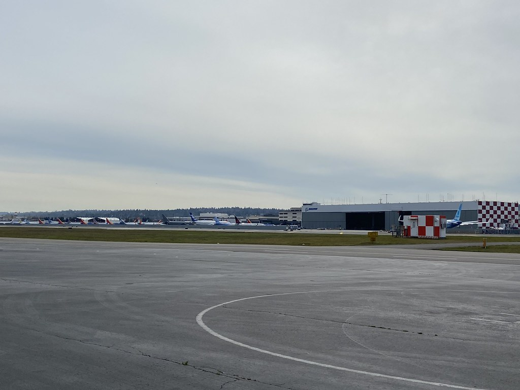 King County/Boeing Field view, King County/Boeing Field 17th March 2020