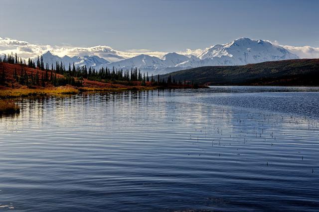 A View Across Wonder Lake in Denali National Park