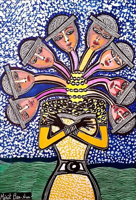 סיור אמנותי קבוצות מירית בן נון ציירת ישראלית עכשווית מודרנית