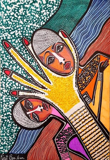 סגר בידוד קורונה 2020 אמנות ישראלית מירית בן נון ציירת מודרנית