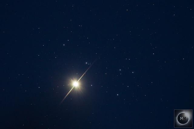 Venus & M45 The Pleiades 20:57 BST 03/04/20