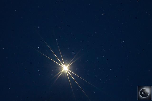 Venus & M45 The Pleiades 20:55 BST 03/04/20