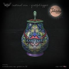 peculiar things - emotional urn - grateful hippie
