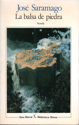 La Balsa de Piedra. Portada del libro.