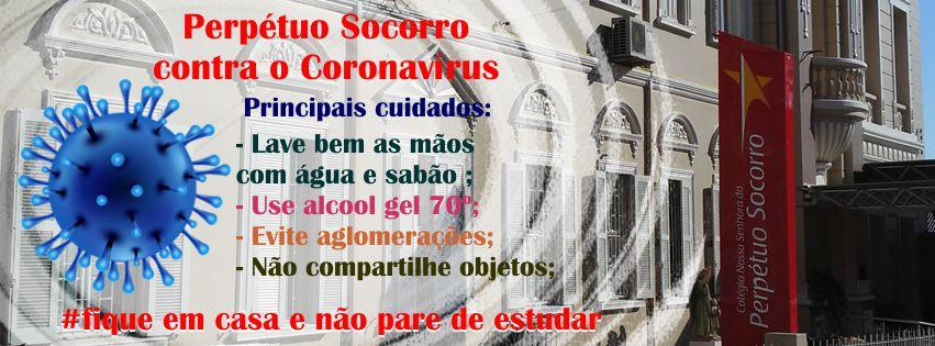 Colégio Perpétuo Socorro contra o coronavírus