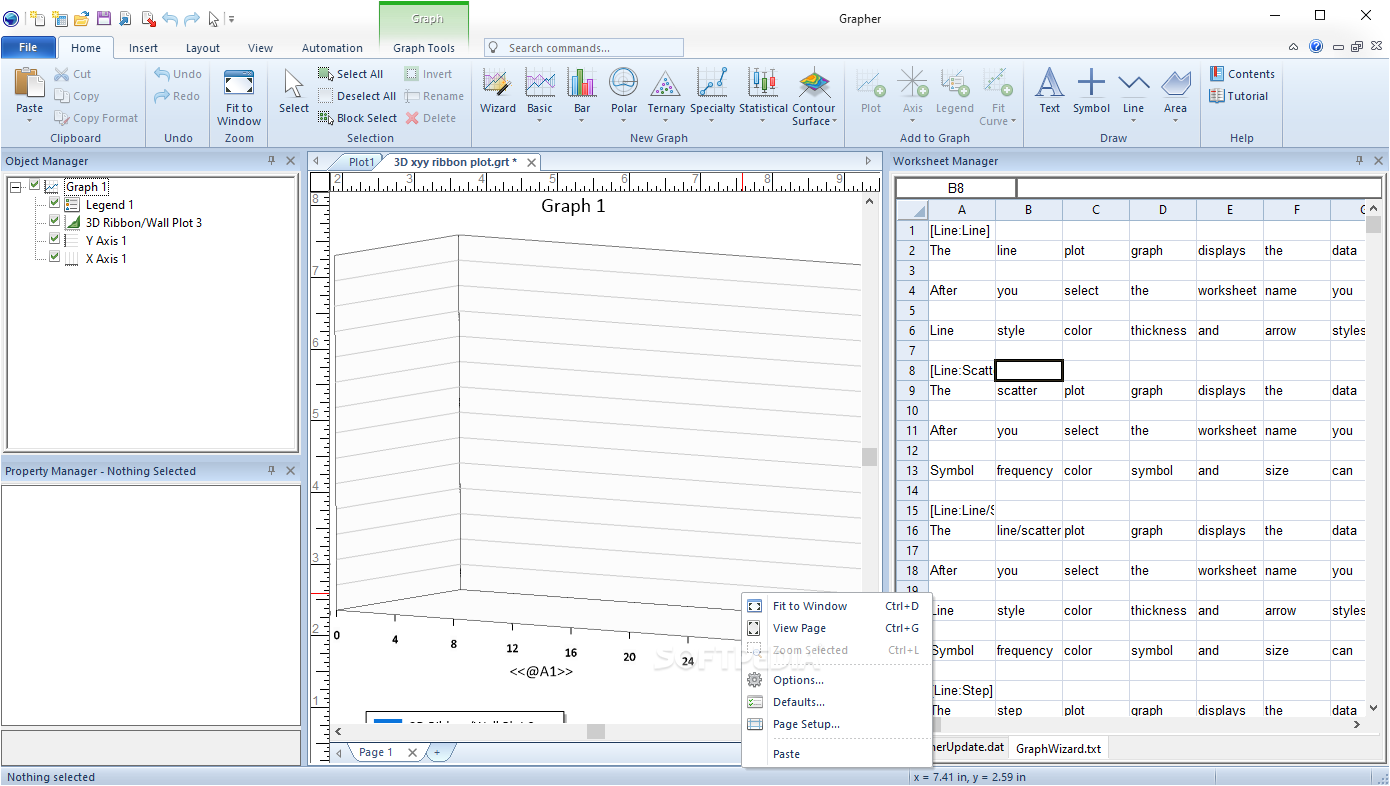 Working with Golden Software Grapher 16.0.314 full license