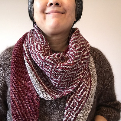 I love the Barnstable shawl that I knit!