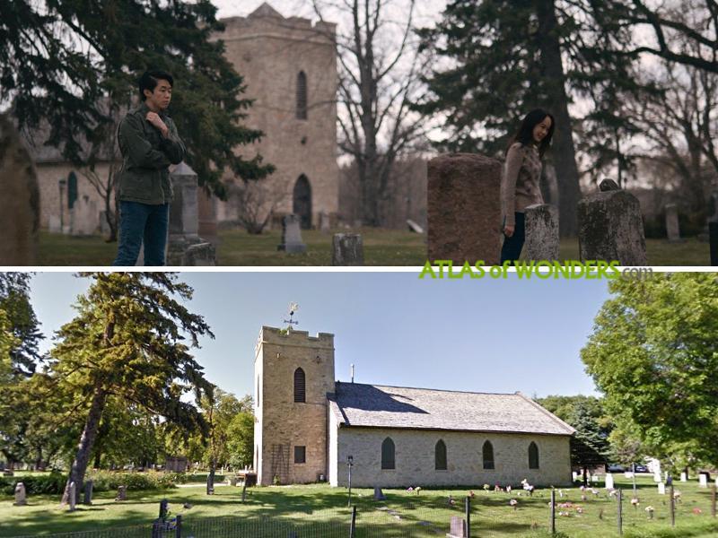 Churchyard scene